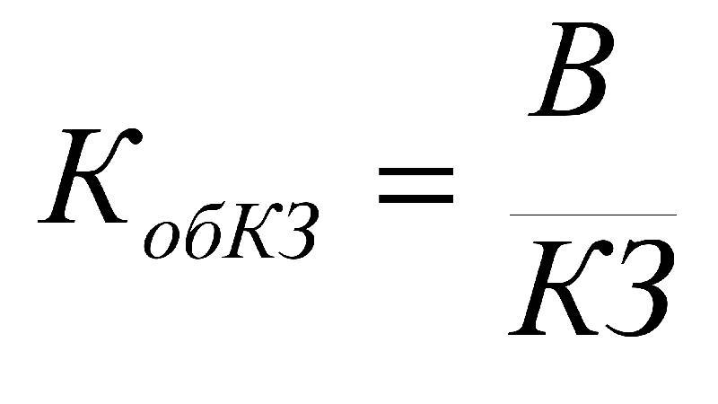 Формула оборачиваемости кредиторской задолженности