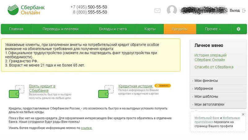 Долг по кредиту в Сбербанке через интернет: как узнать онлайн