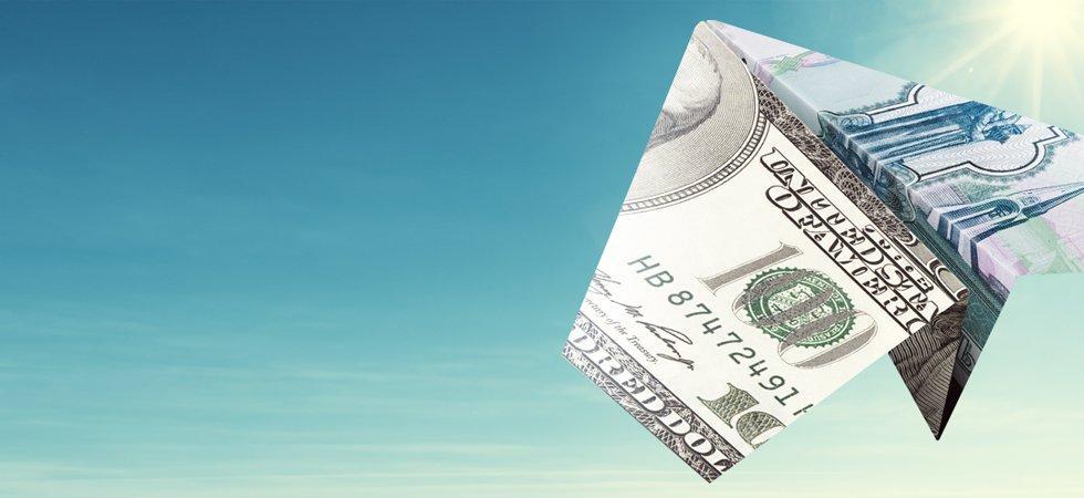 самолётик из денег